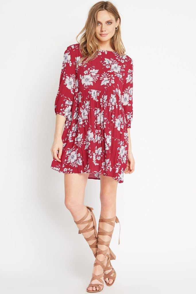 Poshsquare Dress S / Red With Love Floral Dress