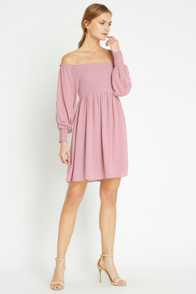 Poshsquare Dress Barett Off the Shoulder Dress
