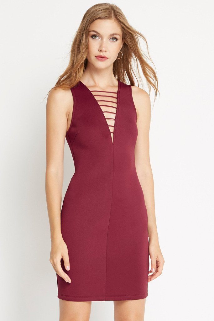 Poshsquare Dress S / Wine Endless Night Bodycon Dress