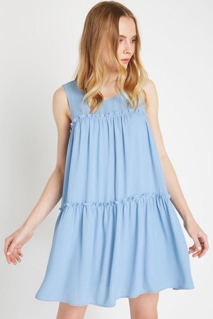 Poshsquare Dress Sunday Ruffle Swing Dress