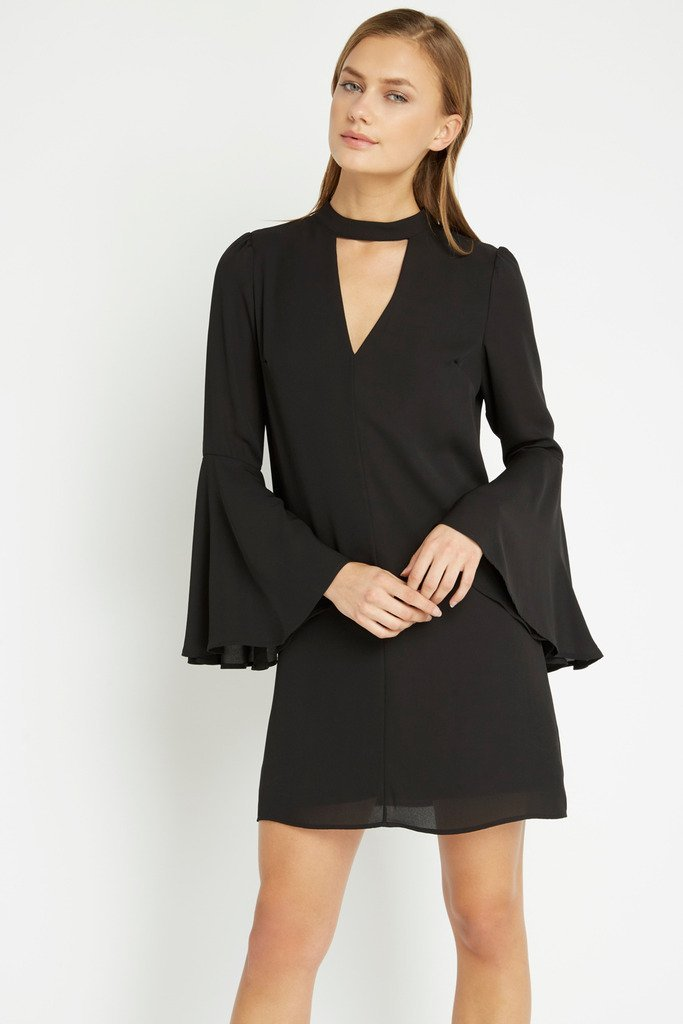 Poshsquare Dress XS / Black Black Ronan Shift Dress