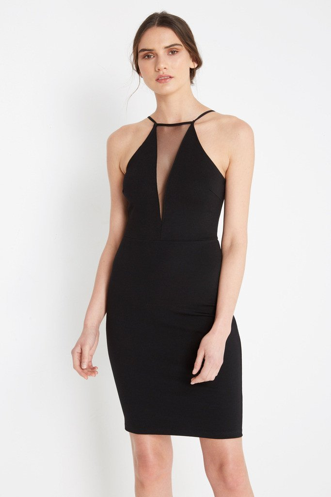 Poshsquare Dress XS / Black Nadine Bodycon Dress