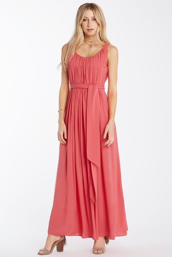 Poshsquare Dress XS / Coral Gleam and Glide Maxi Dress