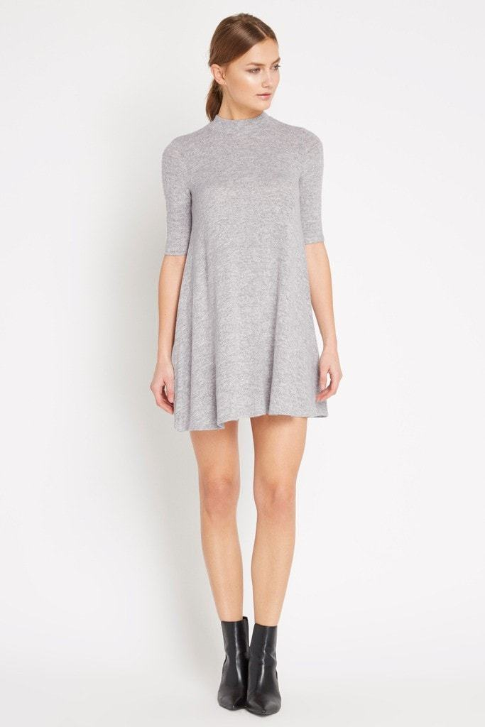 Poshsquare Dress XS / Grey Grey Mod Sweater Swing Dress