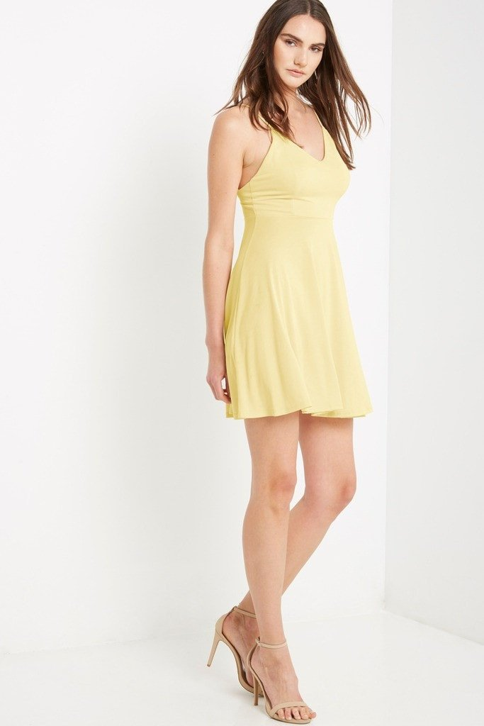Poshsquare Dress XS / Yellow Mutual Swing Dress