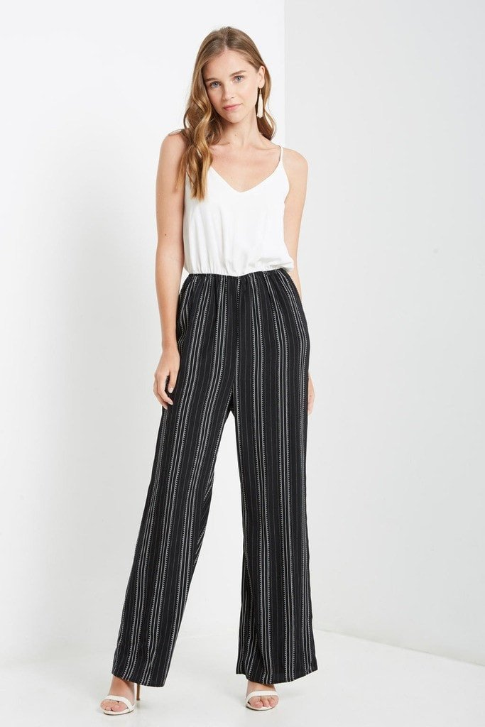 Poshsquare Jumpsuit M / Black White Anything Can Happen Chiffon Jumpsuit