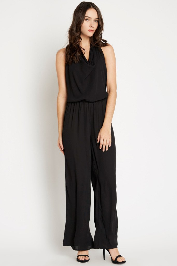 Poshsquare Jumpsuit S / Black You're So Vain Cowl Halter Jumpsuit