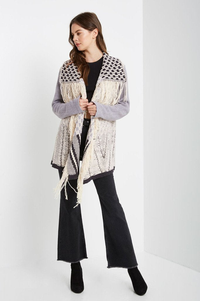 Poshsquare Outerwear Cabin Cozy Fringe Sweater