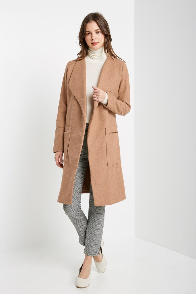 Poshsquare Outerwear Front Page Wool Blend Trench Coat