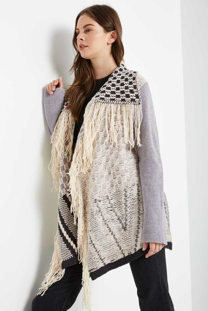 Poshsquare Outerwear S / Cream Cabin Cozy Fringe Sweater
