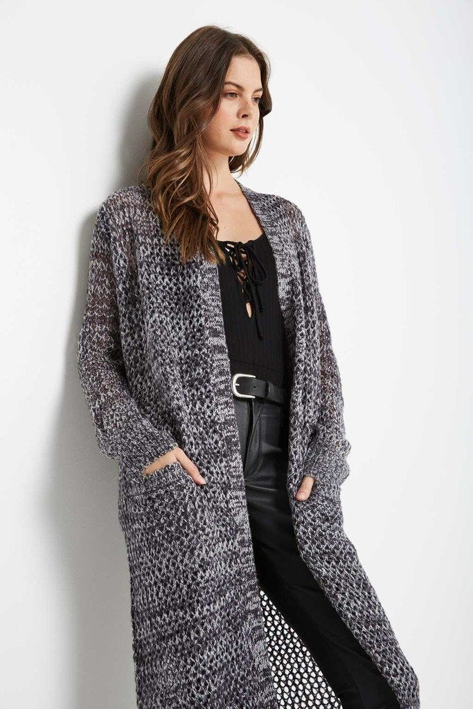 Poshsquare Outerwear S / Grey New Age Sweater Maxi Cardigan