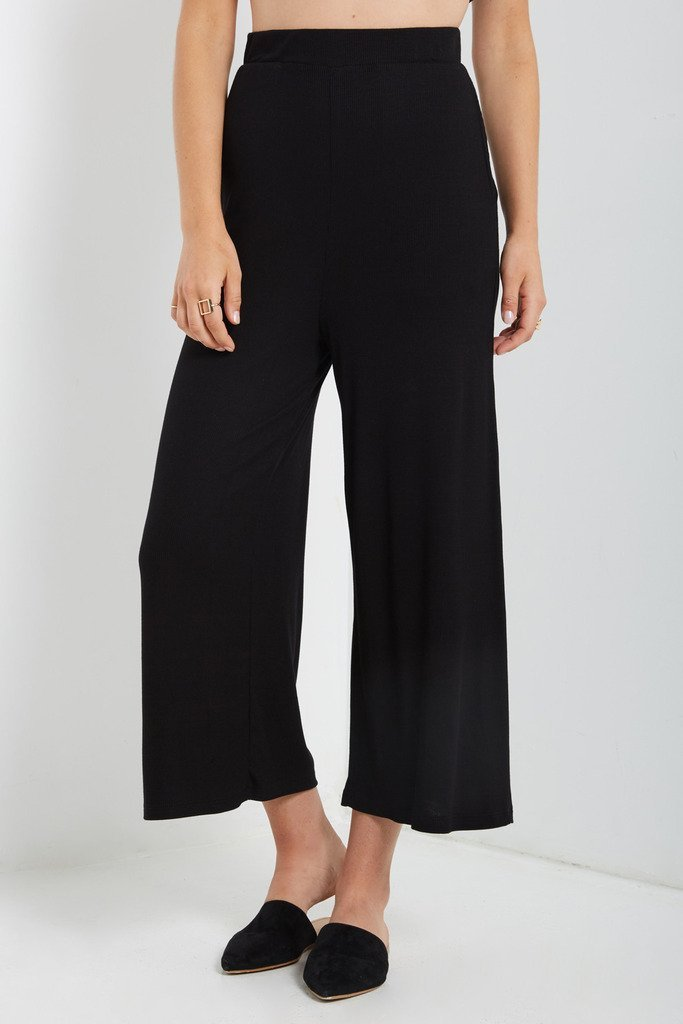 Poshsquare Pants Liza Ribbed Culotte Pants
