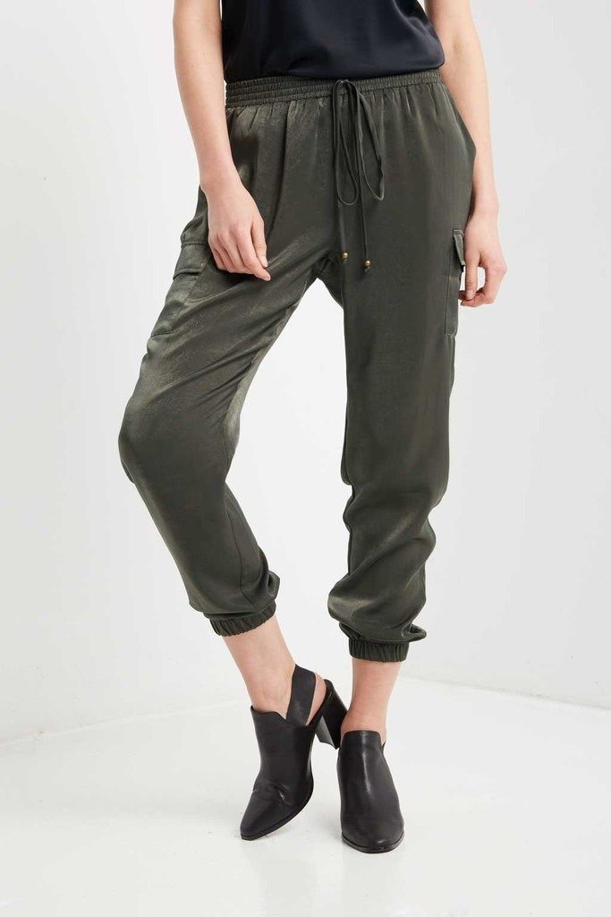 Poshsquare Pants Olive Smooth Operator Harem Pants