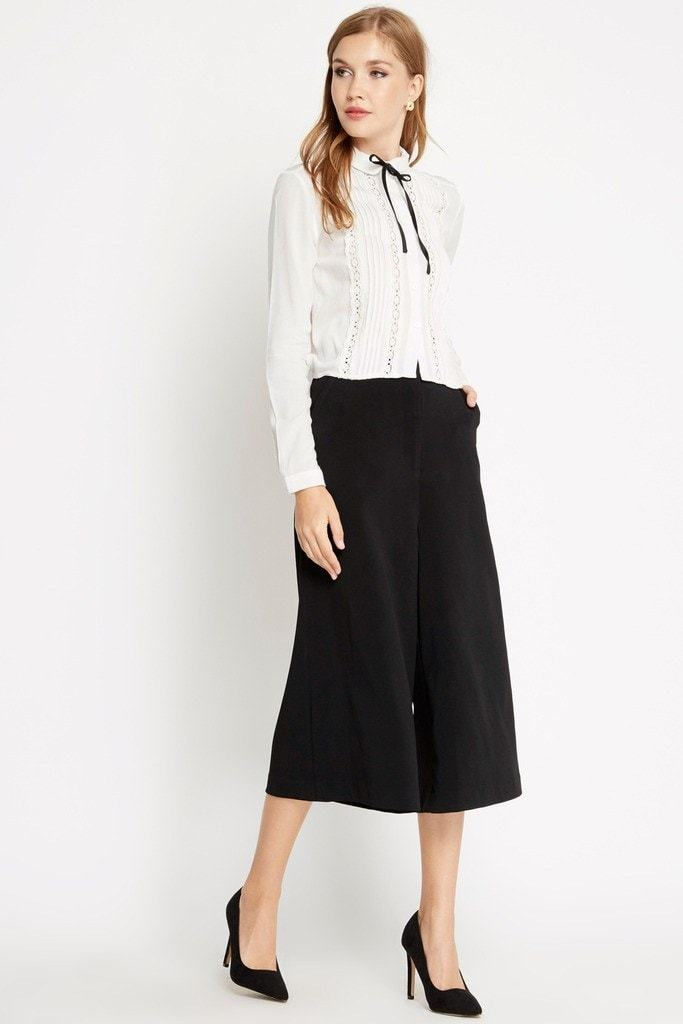Poshsquare Pants S / Black Chic Affair Culottes