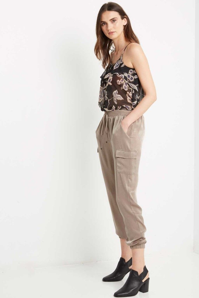 Poshsquare Pants S / Mocha Olive Smooth Operator Harem Pants