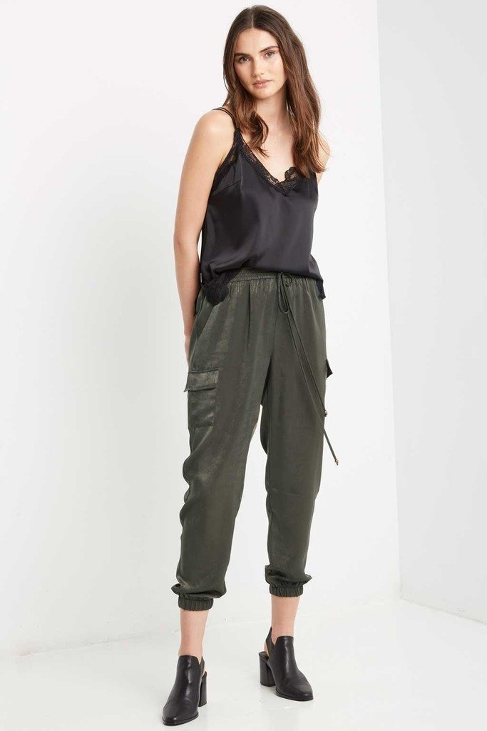 Poshsquare Pants S / Olive Olive Smooth Operator Harem Pants