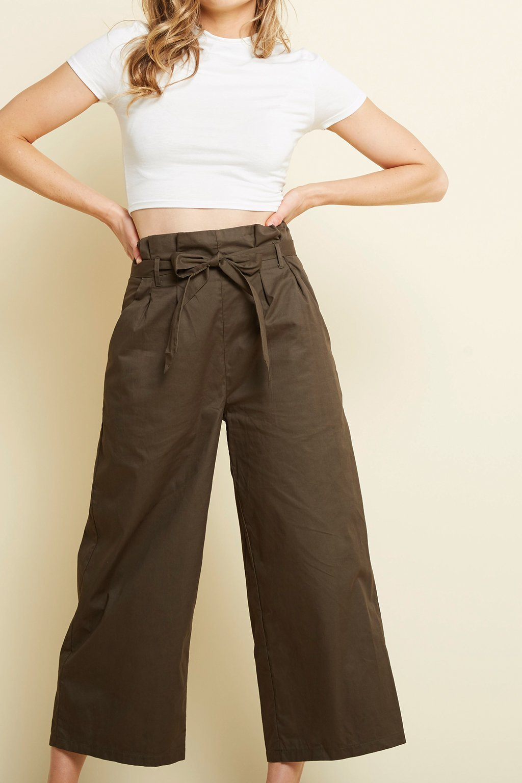 Poshsquare Pants XS / Olive Amy Trousers