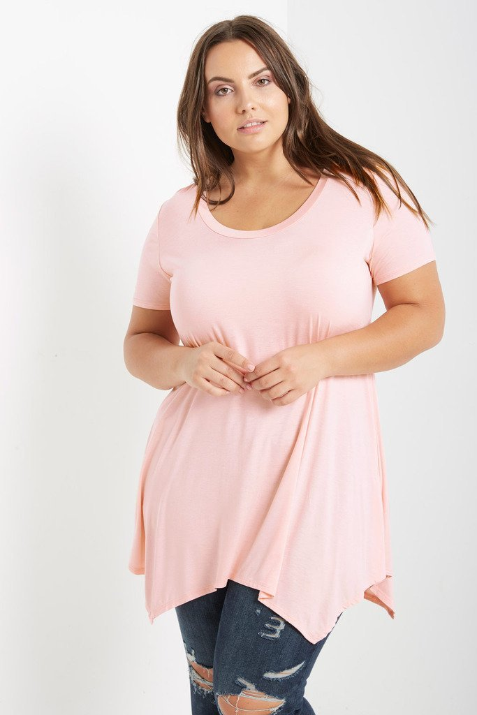 Poshsquare Plus 1XL / Baby Pink Necessary T Shirt Plus Size
