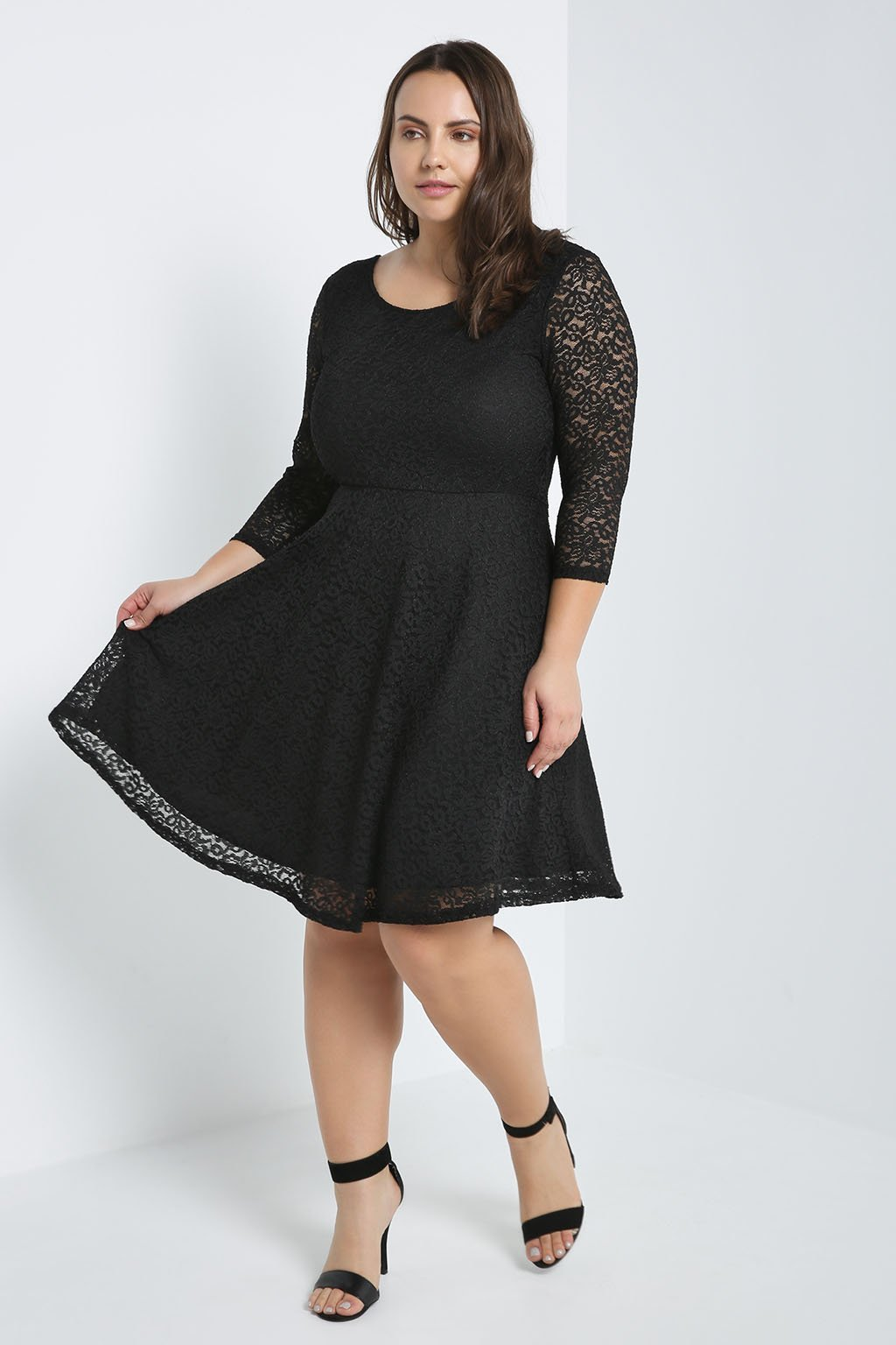 Love Poem Lace Fit And Flare Dress Plus Size