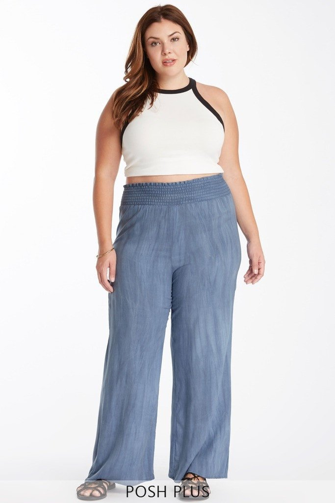 Casual Tendencies Palazzo Pants Plus Size
