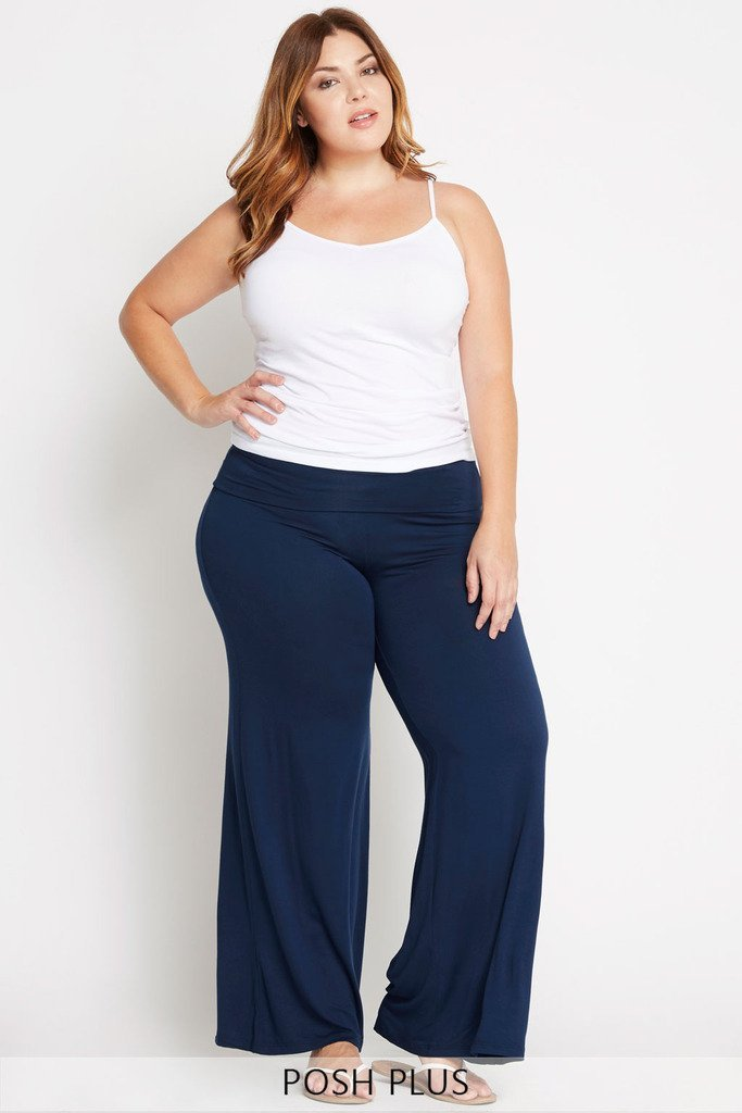 Feeling Content Palazzo Pants Plus Size