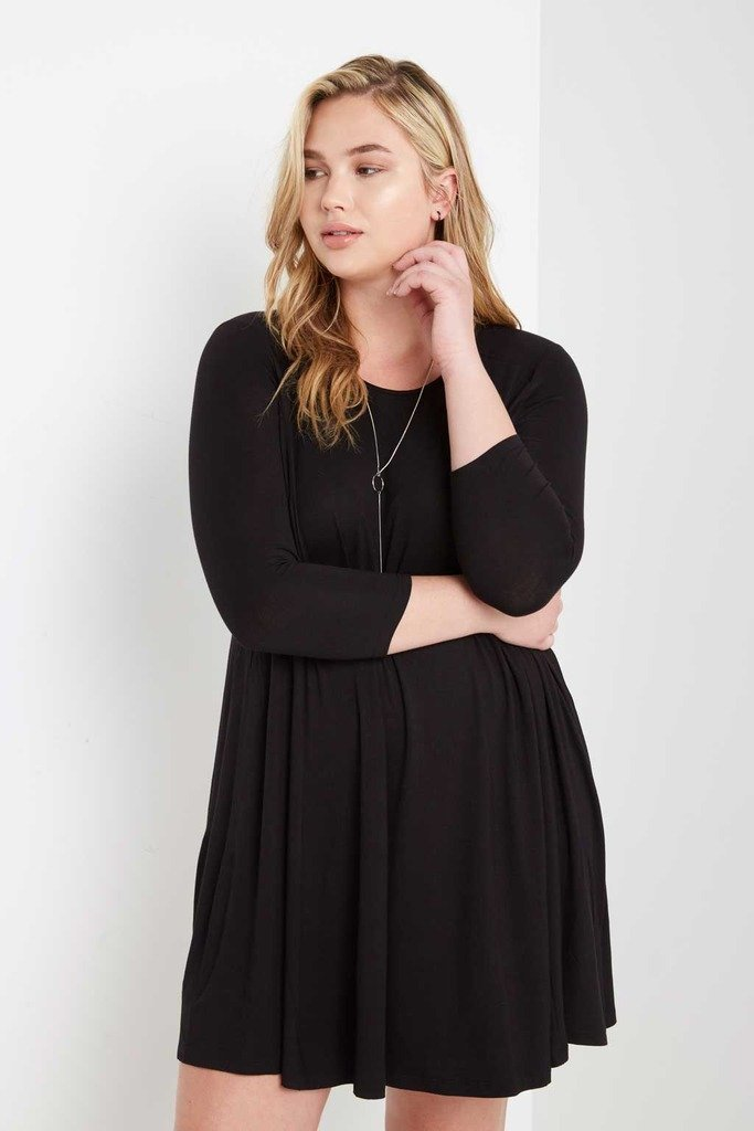 Poshsquare Plus 2XL / Black Best For Last Swing Dress Plus Size