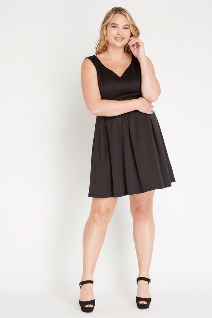 Linds Fit And Flare Dress Plus Size