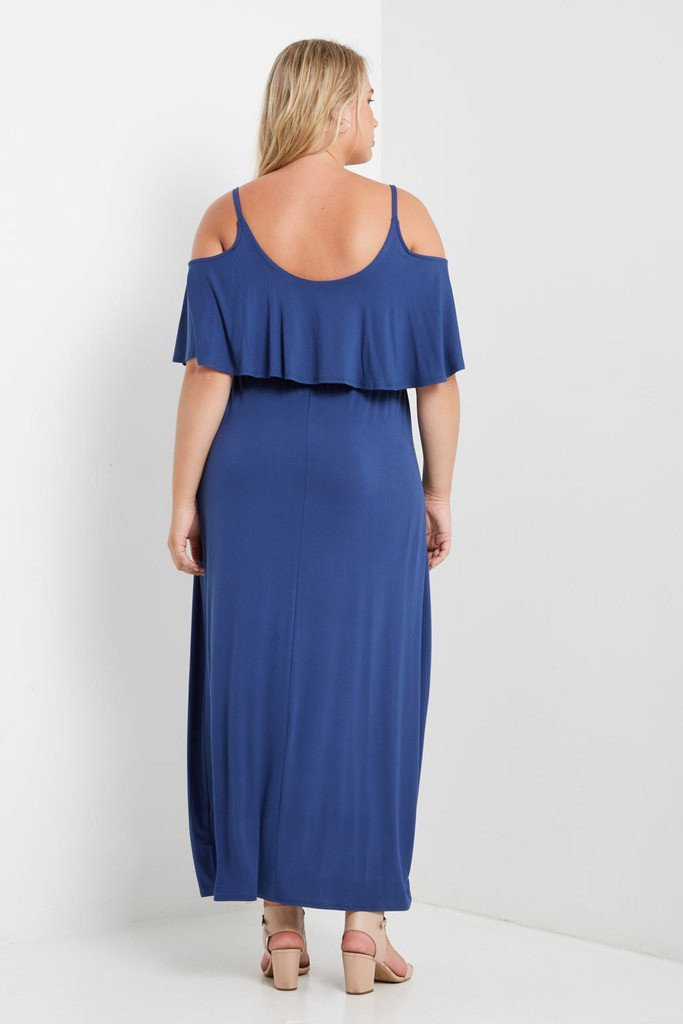Poshsquare Plus Barth Cold Shoulder Maxi Dress Plus Size