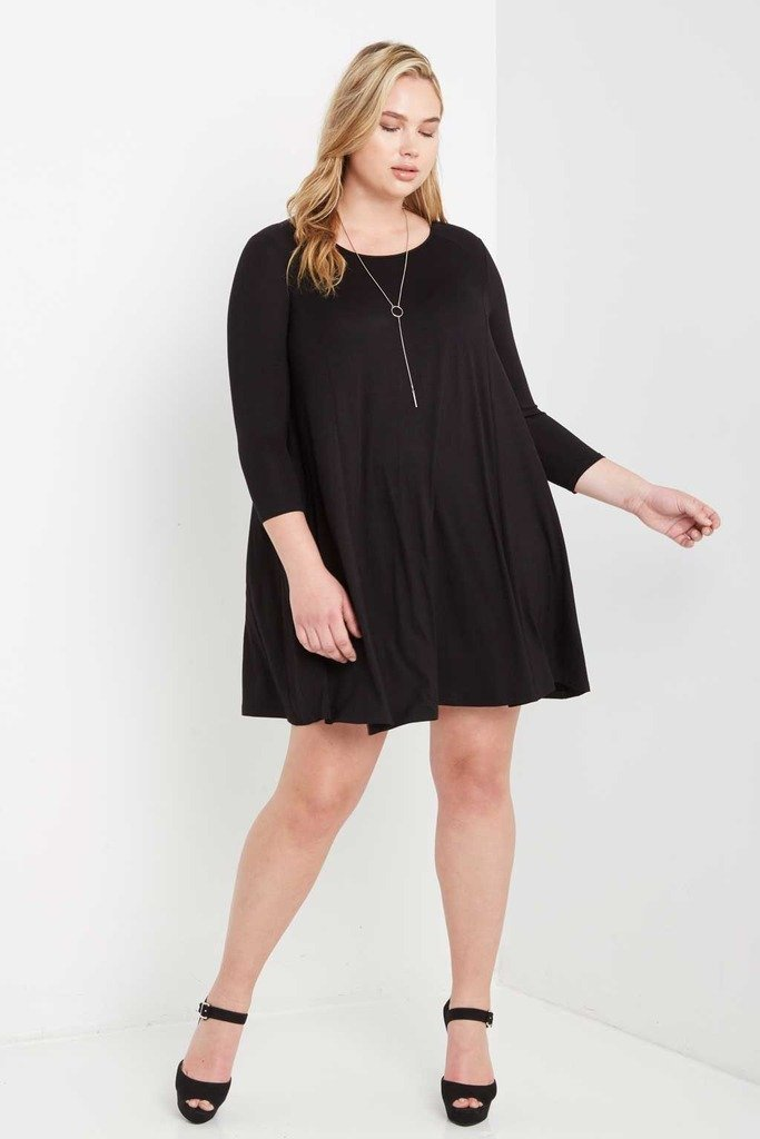 Poshsquare Plus Best For Last Swing Dress Plus Size