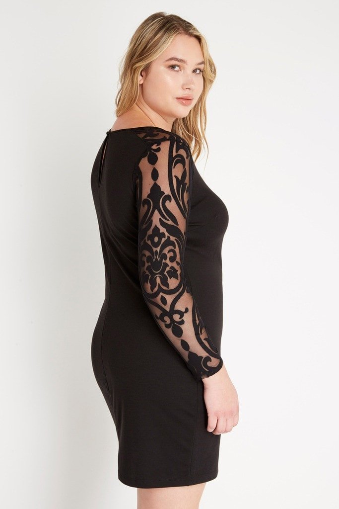 Poshsquare Plus Ivy Appliqué Bodycon Dress Plus Size
