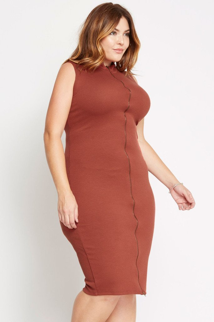 Lean On Ribbed Sweater Dress Plus Size