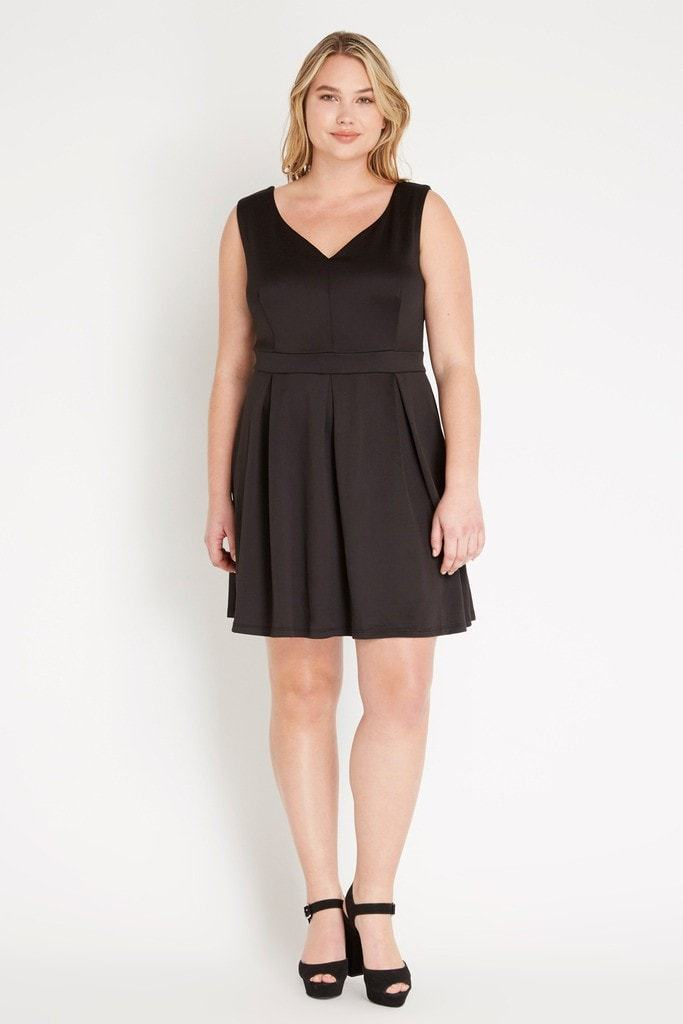 Poshsquare Plus Linds Fit and Flare Dress Plus Size