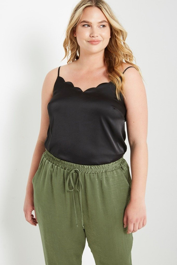 Poshsquare Plus Satin Camisole Top Plus Size