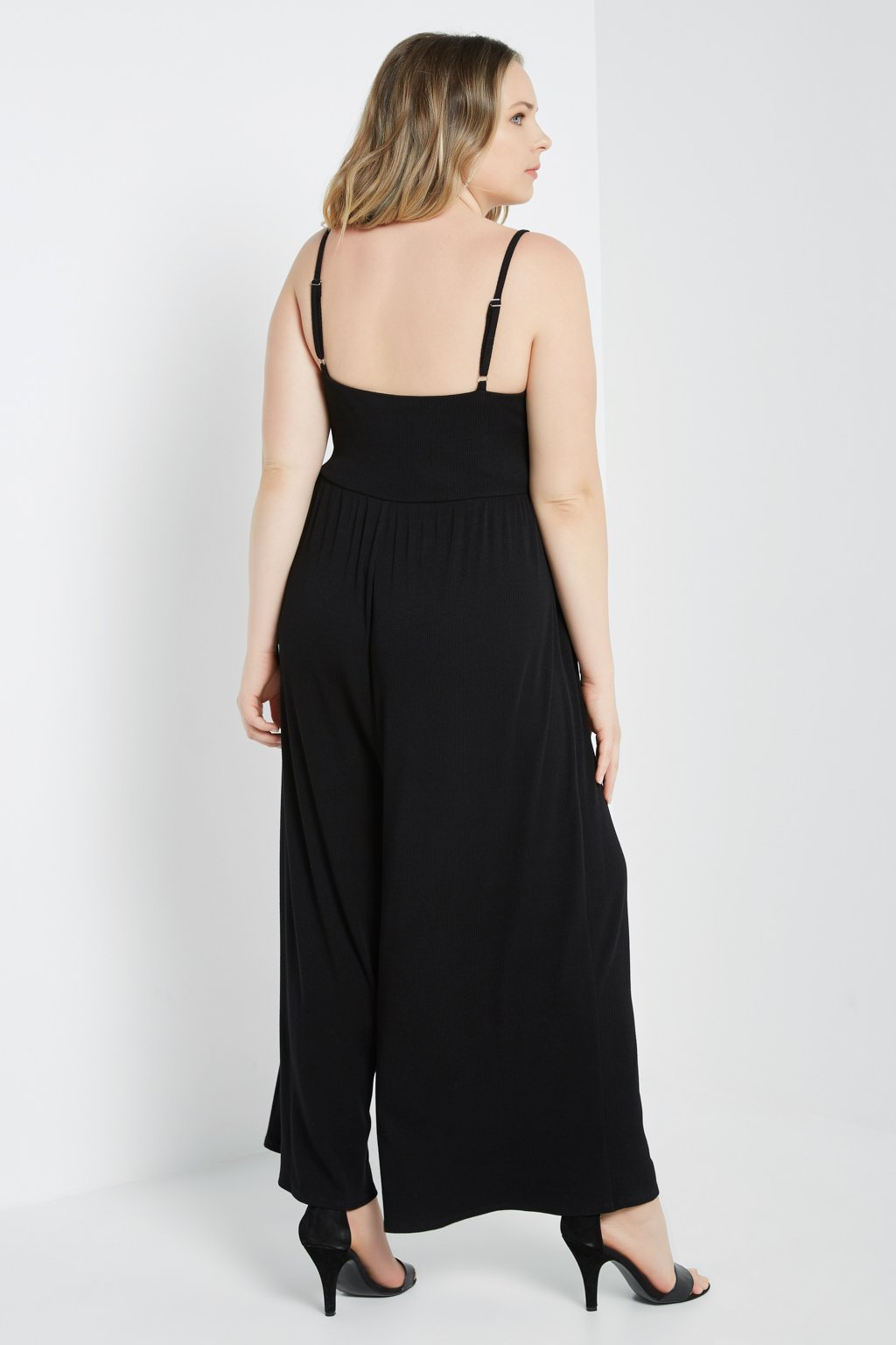 Poshsquare Plus Wide Leg Cami Jumpsuit Plus Size