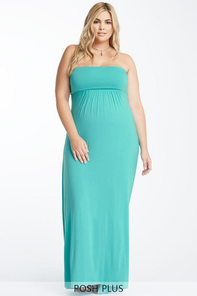Poshsquare Plus XL / Mint Casual Daze Maxi Dress Plus Size