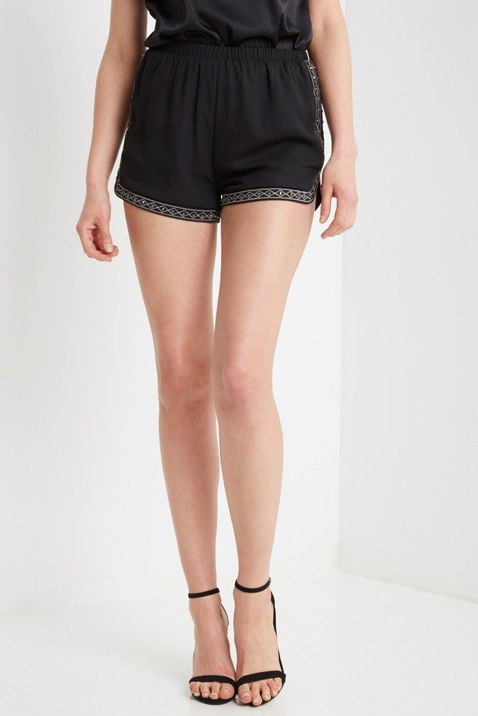 Poshsquare Shorts Ellory Chiffon Studded Shorts