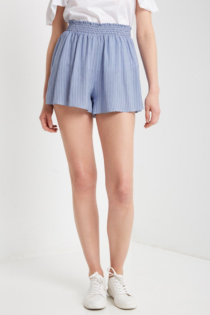 Poshsquare Shorts Mallory Striped Shoft Shorts