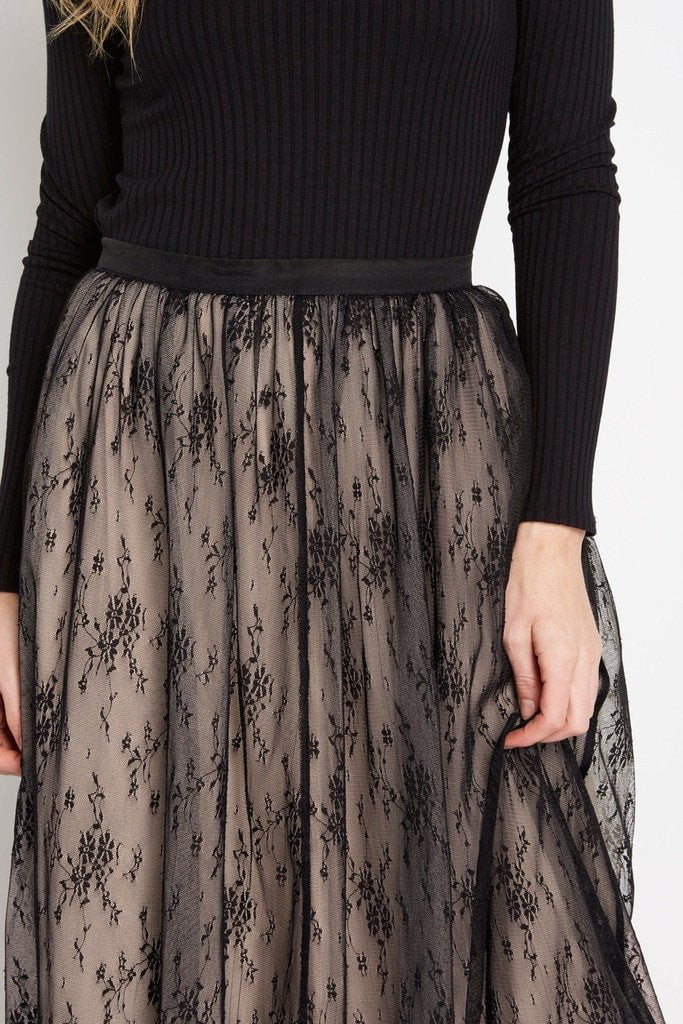 Poshsquare Skirts Black Proposal Tulle Maxi Skirt