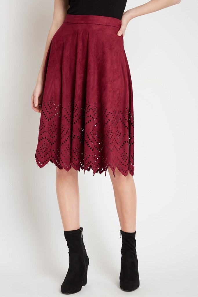 Poshsquare Skirts Element Suede Midi Skirt