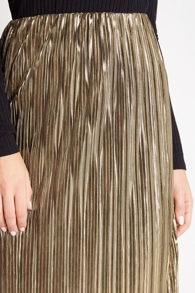 Poshsquare Skirts Gold Rush Metallic Maxi Skirt