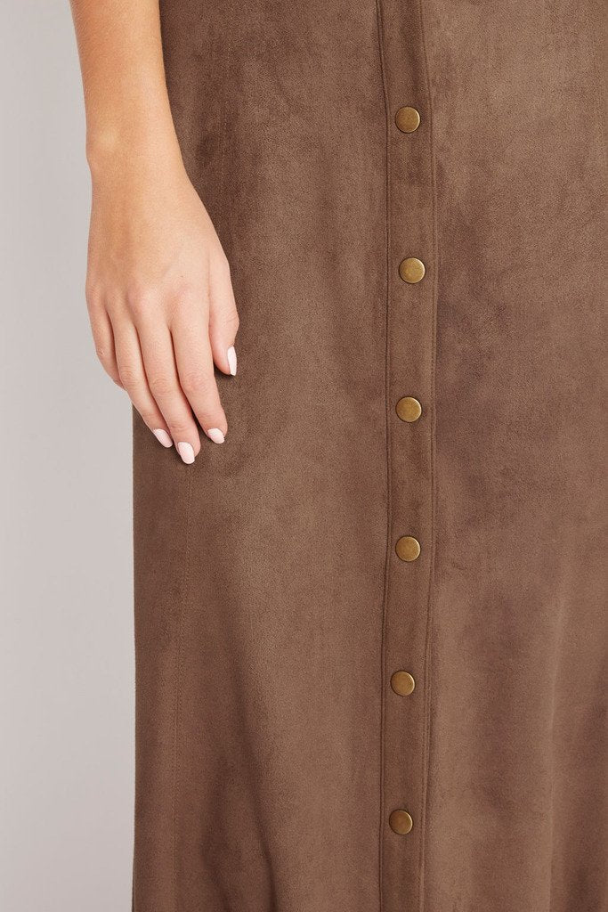 Poshsquare Skirts Grand Prairie Faux-Suede Maxi Skirt