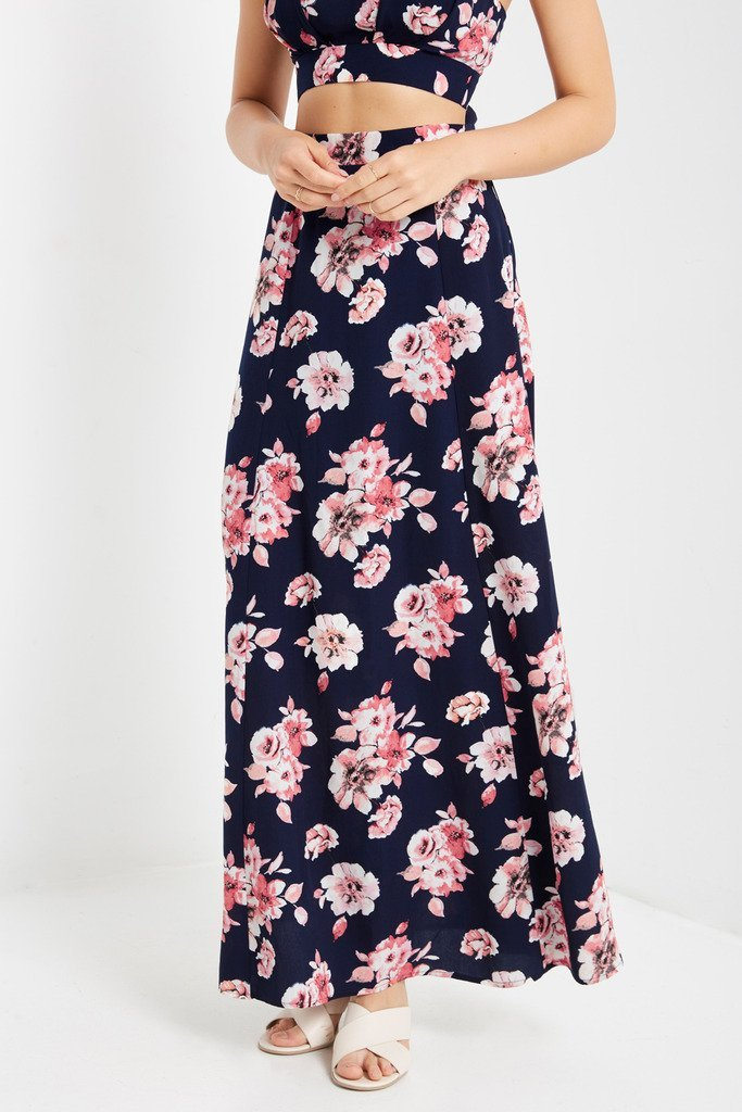 Poshsquare Skirts Lucy Printed Maxi Skirt
