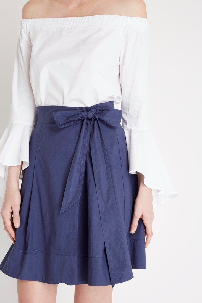 Poshsquare Skirts Navy Keepsake Pleated Skirt