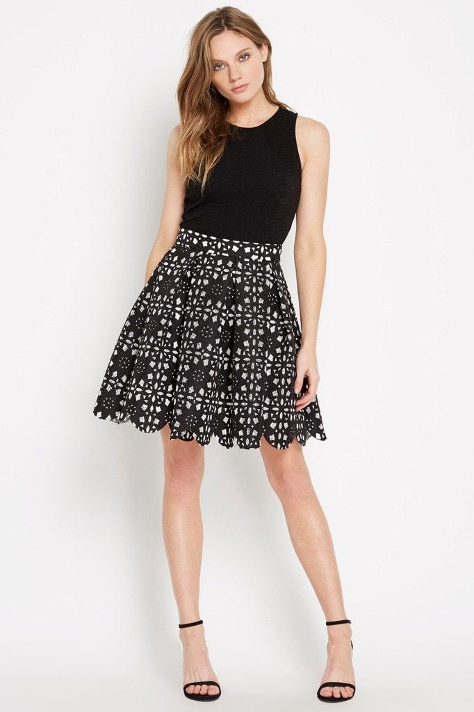 Poshsquare Skirts S / Black Do A Twirl Pleated Skirt