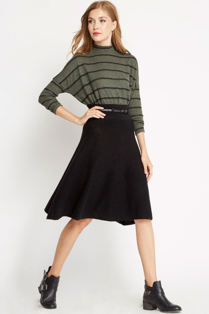 Poshsquare Skirts S / Black Sweater Weather Belted Skirt