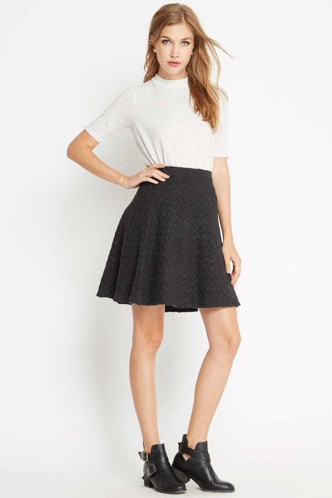 Poshsquare Skirts S / Grey Lola Sweater Skater Skirt