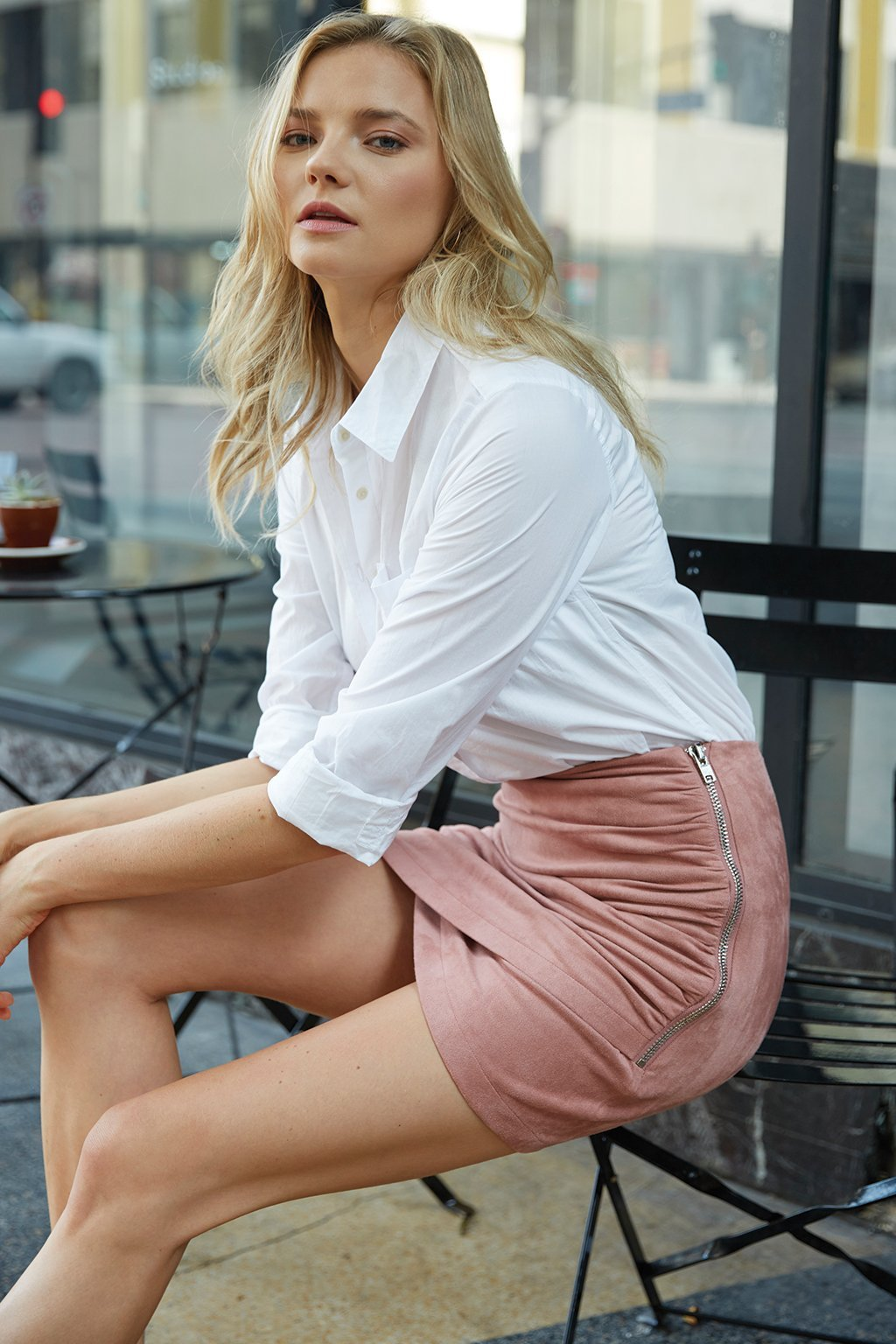 Poshsquare Skirts S / Mauve Kenzie Mauve Mini Skirt