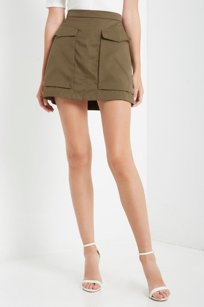 Poshsquare Skirts Style Recruit Cargo Mini Skirt