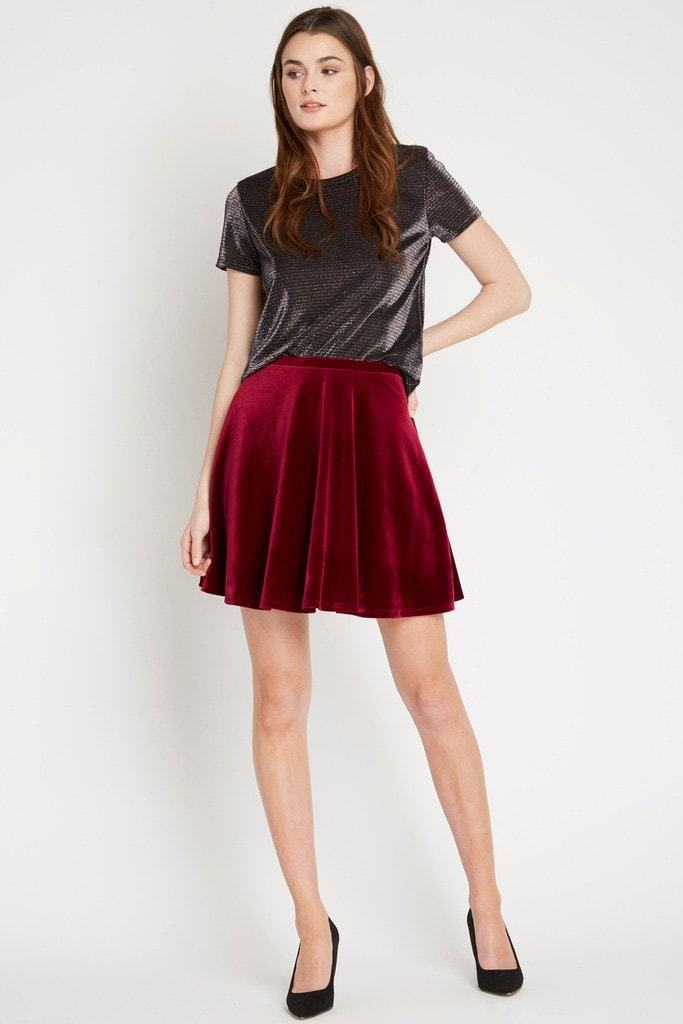 Poshsquare Skirts Essential Velvet Circle Skirt