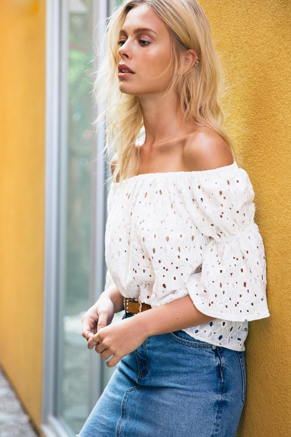 Poshsquare Tops Belle Off the Shoulder Top